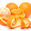 Stock Photo: Ripe oranges and slices