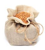 Buckwheat in the sack  — Stock Photo
