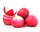Red radishes sliced  — Stok fotoğraf