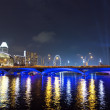 Stock Photo: View to Esplanade Drive, Singapore River.
