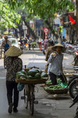 Fruit Seller in the Streets of Hanoi. — Stock Photo