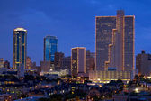 Fort Worth Texas at Night — Stock Photo
