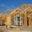 New home construction framing — Foto de Stock
