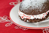 Holiday whoopie pie — Stock Photo