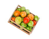 Tomatoes in crate — Stock Photo