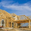 New home construction frame — Stock Photo
