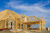 New home construction frame — Foto Stock