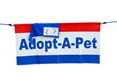 Adopt a pet flag — Stock Photo