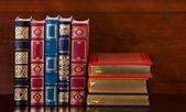 Livres en cuir vintage — Photo