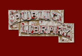 Public library sign — Stockfoto