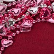 Valentine's heart shaped beads — Stock Photo