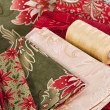 Stock Photo: Quilting fabrics and quilting thread