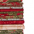 Stock Photo: Quilting fabrics