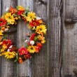 Autumn flower wreath — Stock Photo #21842487