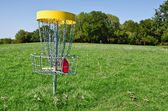 Disc golf hole — 图库照片
