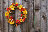 Autumn flower wreath — Foto Stock