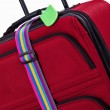 Luggage tag and colorful belt — Stock Photo #23190416