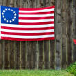 13 Star American flag, the Betsy Ross flag — Stock Photo