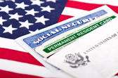 Social security and permanent resident card — Stock Photo