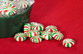 Pinwheel Christmas candies — Foto de Stock