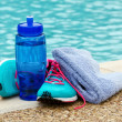 Stock Photo: Exercise and hydration concept