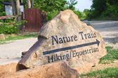 Nature trails marker — Stock Photo