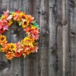 Autumn flower wreath — Stock Photo #28882001