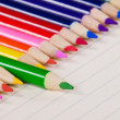 Color pencils in a row — Stock Photo