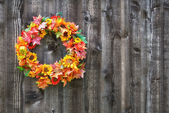 Autumn flower wreath — Stock Photo