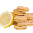 Lemon sandwich creme cookies — Stock Photo