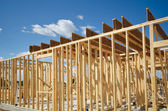 New construction home framing — Stock Photo
