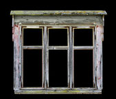Old rustic wooden window frame — Stock Photo