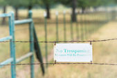No tresspassing sign — Stock Photo