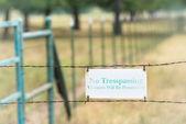 No tresspassing sign — Stock Photo