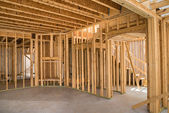 New residential construction home framing — Foto de Stock
