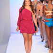 MIAMI - JULY 21: Creative Director Reyhan Sofraci walks runway at the Agua di Lara Swim Collection for S S 2013 during Mercedes-Benz Swim Fashion Week on July 21, 20 — Stock Photo
