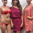 MIAMI - JULY 21: Creative director Reyhan Sofraci (C) and models backstage at the Agua di Lara Swim Collection for S S 2013 during Mercedes-Benz Swim Fashion Week on — Stock Photo #12433087