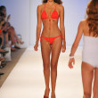 Model walking runway at the Aquarella Swim Collection for Spring Summer 2013 during Mercedes-Benz Swim Fashion Week on July 23, 2012 in Miami — Stock Photo #12437154