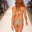 Model walking runway at the Aquarella Swim Collection for Spring Summer 2013 during Mercedes-Benz Swim Fashion Week on July 23, 2012 in Miami — Stock Photo #12437360