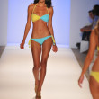 MIAMI - JULY 23: Model walks runway at the Dorit Swimwear Collection for Spring Summer 2013 during Mercedes-Benz Swim Fashion Week on July 23, 2012 in Miami, FL — Stock Photo