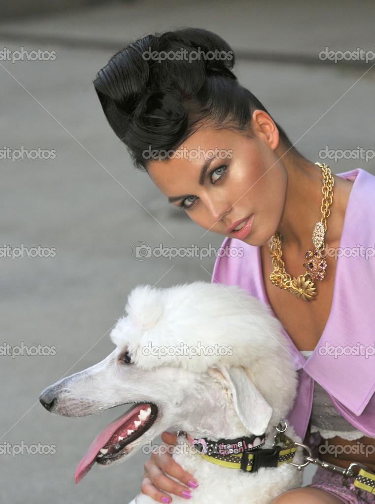 Dog Wearing Jewelry a White Dog Wearing Pink