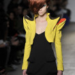NEW YORK - FEBRUARY 10: A Model walks runway for Geoffrey Mac Fall Winter 2012 presentation in Exit Art - 475 10th Avenue during New York Fashion Week on February 08, 2012 -  