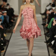 NEW YORK - FEBRUARY 14: A Model walks runway for Oscar De la Renta Fall Winter 2012 presentation at 11 West 42nd Street during New York Fashion Week on February 08, 2012 - Stock Photo