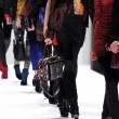 NEW YORK - FEBRUARY 10: A Model walks runway for Rebecca Minkoff Fall Winter 2012 presentation in Lincoln Center during New York Fashion Week on February 10, 2012 - Stock Photo