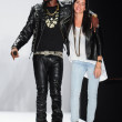 NEW YORK, NY - FEBRUARY 10: Rapper Theophilus London and designer Rebecca Minkoff walk the runway at the Rebecca Minkoff Fall 2012 fashion show during MBFW at  Lincoln Center — Stock Photo