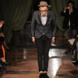 NEW YORK, NY - FEBRUARY 10: Designer Victor de Souza walks the runway at the Victor de Souza Fall Winter 2012 fashion show during Mercedes-Benz Fashion Week at Bowery hotel on February 10, 2012 - Stock Photo