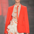 NEW YORK - SEPTEMBER 10: Model walks the runway at the Vivienne Tam Spring  Summer 2012 collection presentation during Mercedes-Benz Fashion Week on September 10, 2011 - ストック写真