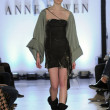 NEW YORK - FEBRUARY 11: A Model walks runway at Anne Bowen Fall Winter 2012 collection show at 25 CPW Gallery during New York Fashion Week on February 11, 2012 in NY - Stock Photo