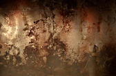 Old rusty brown metal background — Stock Photo