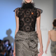 NEW YORK - FEBRUARY 11: A Model walks runway at Venexiana Fall Winter 2012 collection show at Lincoln center during New York Fashion Week on February 11, 2012 in NY - Stock Photo